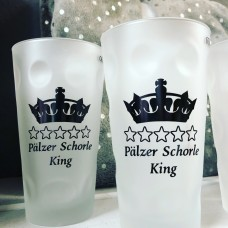 Dubbeglas Schorleglas Pälzer Schorle King 0,5L satiniert