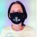 Dubbeglas Maske Mund Nasen Bedeckung schwarz unisex