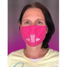 Dubbeglas Maske Mund Nasen Bedeckung  pink unisex