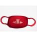 Dubbeglas Maske Mund Nasen Bedeckung rot unisex