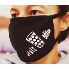 Dubbe Maske Mund Nasen Bedeckung No. 2 schwarz unisex