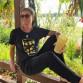T-Shirt in Schwarz Rundhals Dubbeglas Gold Pfälzer Shirt