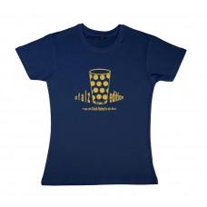 Damen T-Shirt navy Motiv Pfalzedition GOLD