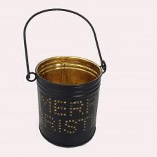 Teelichthalter aus Metall in gold Merry Christmas
