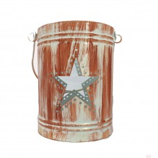 Teelichthalter aus Metall Antique Stern Windlicht