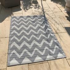 Outdoor Teppich Kunststoffteppich 120x180 cm grau creme